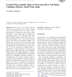 pdf ground water quality maps of paravanar river sub basin cuddalore district tamil nadu india [ 850 x 1146 Pixel ]