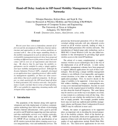 pdf hand off delay analysis in sip based mobility management in wireless networks  [ 850 x 1100 Pixel ]