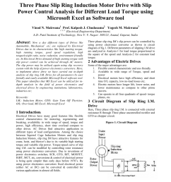 pdf three phase slip ring induction motor drive with slip power control analysis for different load torque using microsoft excel as software tool  [ 850 x 1100 Pixel ]