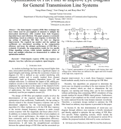 pdf optimization of fir filter to improve eye diagram for general transmission line systems [ 850 x 1100 Pixel ]