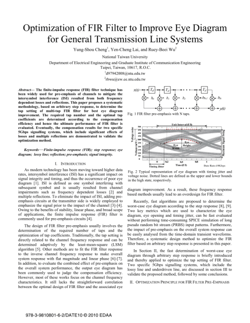 small resolution of  pdf optimization of fir filter to improve eye diagram for general transmission line systems