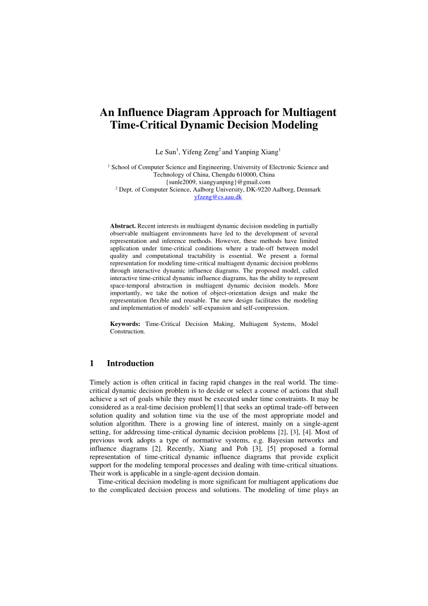 hight resolution of  pdf an influence diagram approach for multiagent time critical dynamic decision modeling