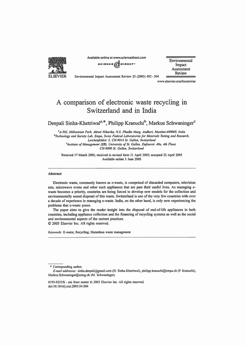 medium resolution of  pdf study recycling of plastic and crts from electronic waste