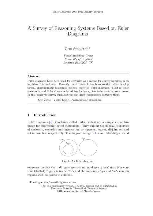 small resolution of  pdf a survey of reasoning systems based on euler diagrams