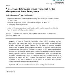 pdf a geographic information system framework for the management of sensor deployments [ 850 x 1203 Pixel ]