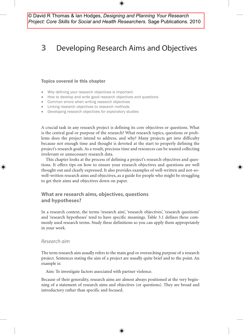 PDF Chapter 3 From Designing And Managing Your Research Project