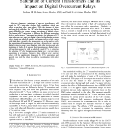 pdf saturation of current transformers and its impact on digital overcurrent relays [ 850 x 1100 Pixel ]