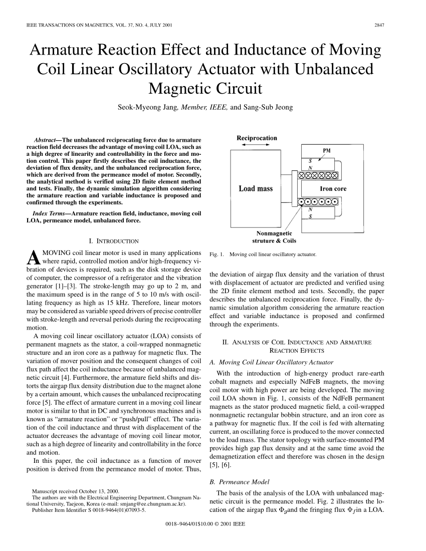 medium resolution of  pdf armature reaction effect and inductance of moving coil linear oscillatory actuator with unbalanced magnetic circuit