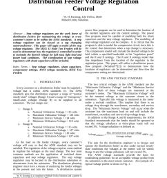 pdf distribution feeder voltage regulation control [ 850 x 1100 Pixel ]