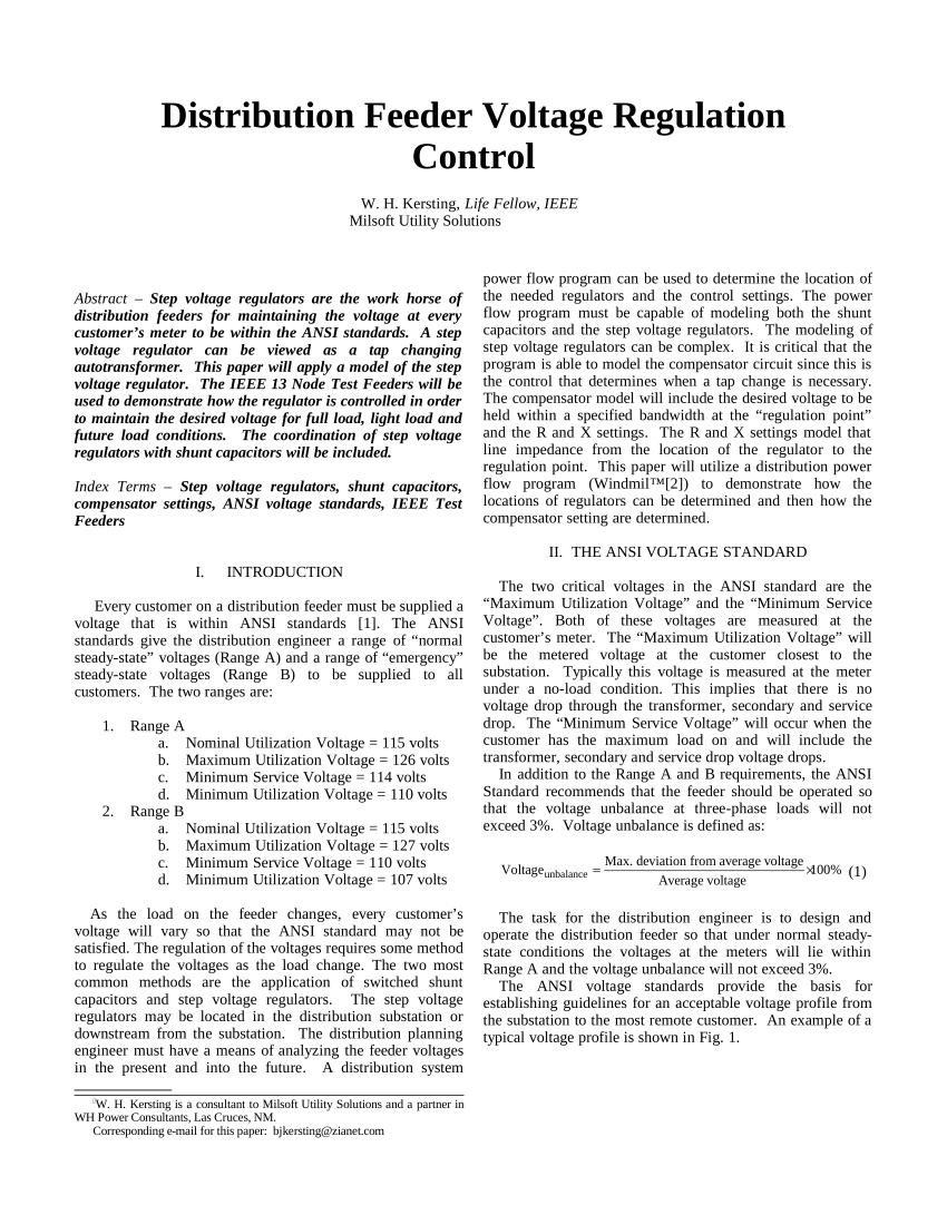 medium resolution of  pdf distribution feeder voltage regulation control
