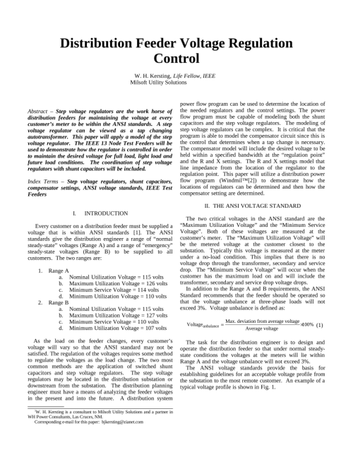 small resolution of  pdf distribution feeder voltage regulation control