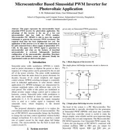 pdf microcontroller based sinusoidal pwm inverter for photovoltaic application [ 850 x 1203 Pixel ]