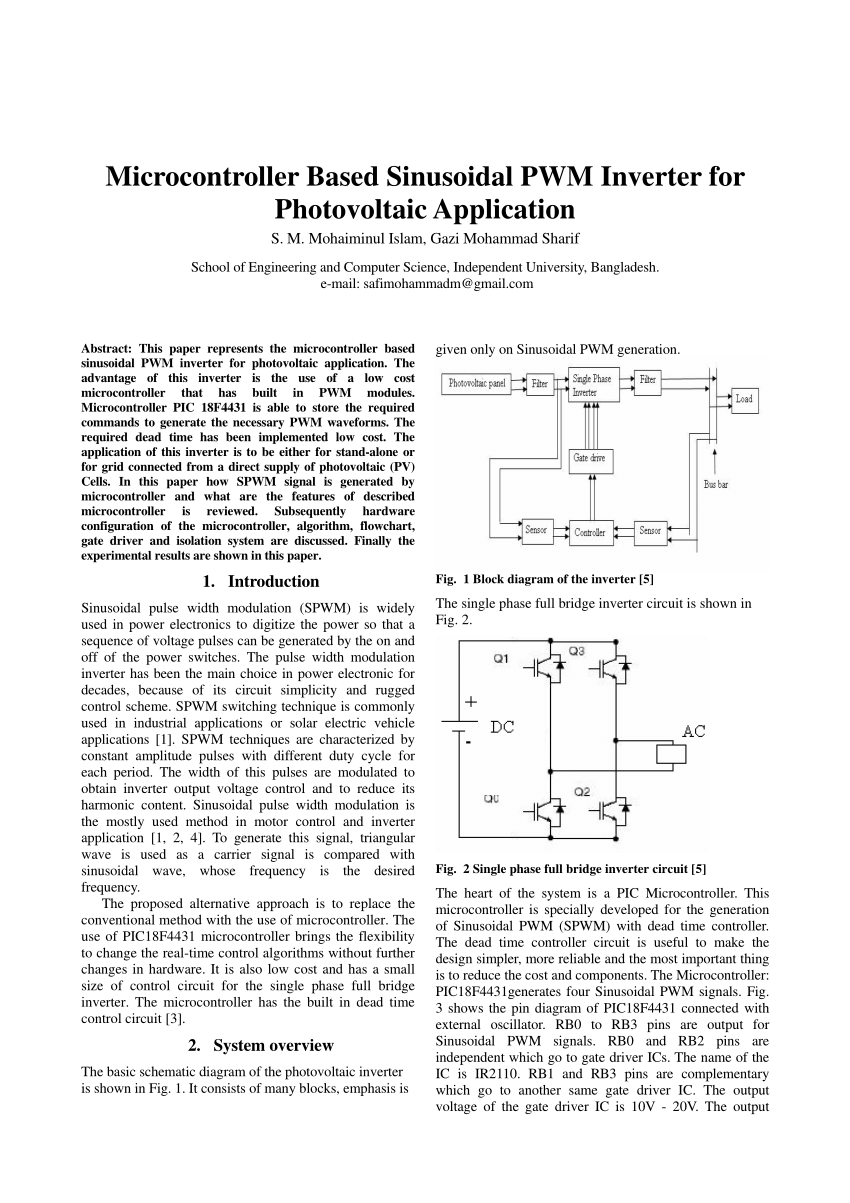 hight resolution of  pdf microcontroller based sinusoidal pwm inverter for photovoltaic application