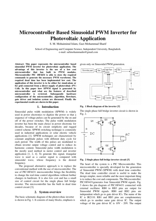 small resolution of  pdf microcontroller based sinusoidal pwm inverter for photovoltaic application