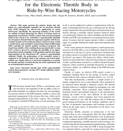 pdf design and validation of a gain scheduled controller for the electronic throttle body in ride by wire racing motorcycles [ 850 x 1134 Pixel ]
