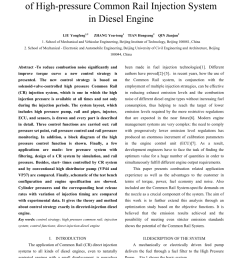 pdf research and applications for control strategy of high pressure common rail injection system in diesel engine [ 850 x 1203 Pixel ]