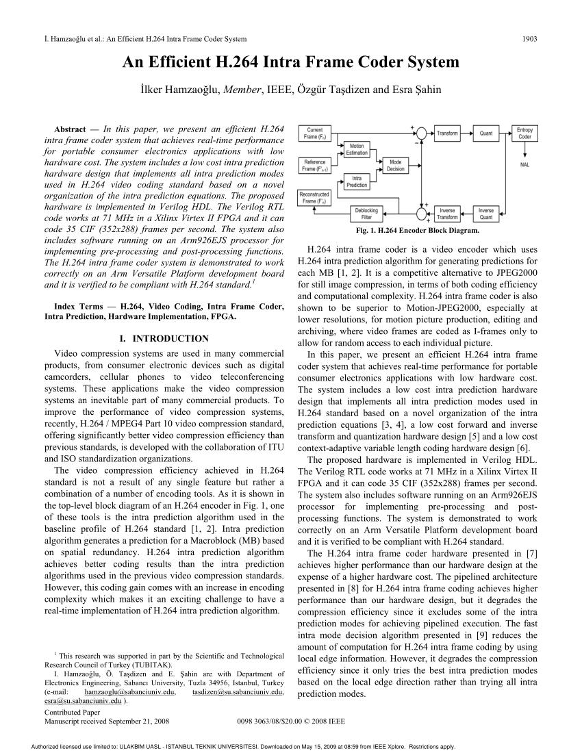 medium resolution of h 264 encoder block diagram download scientific diagram