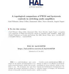 pdf a topological comparison of pwm and hysteresis controls in switching audio amplifiers [ 850 x 1202 Pixel ]