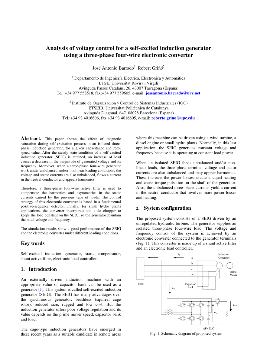 medium resolution of an independent active and reactive power control of an isolated asynchronous generator in 3 phase 4 wire applications request pdf