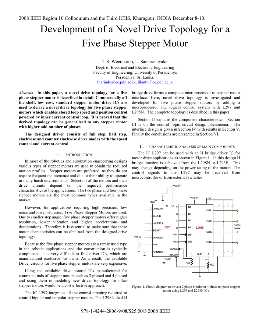medium resolution of  pdf a study of development of a dedicated control ic for a five phase stepper motor driver