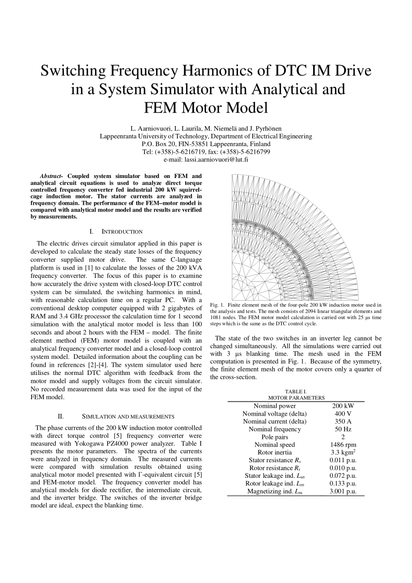 hight resolution of finite element mesh of the four pole 200 kw induction motor used in the download scientific diagram