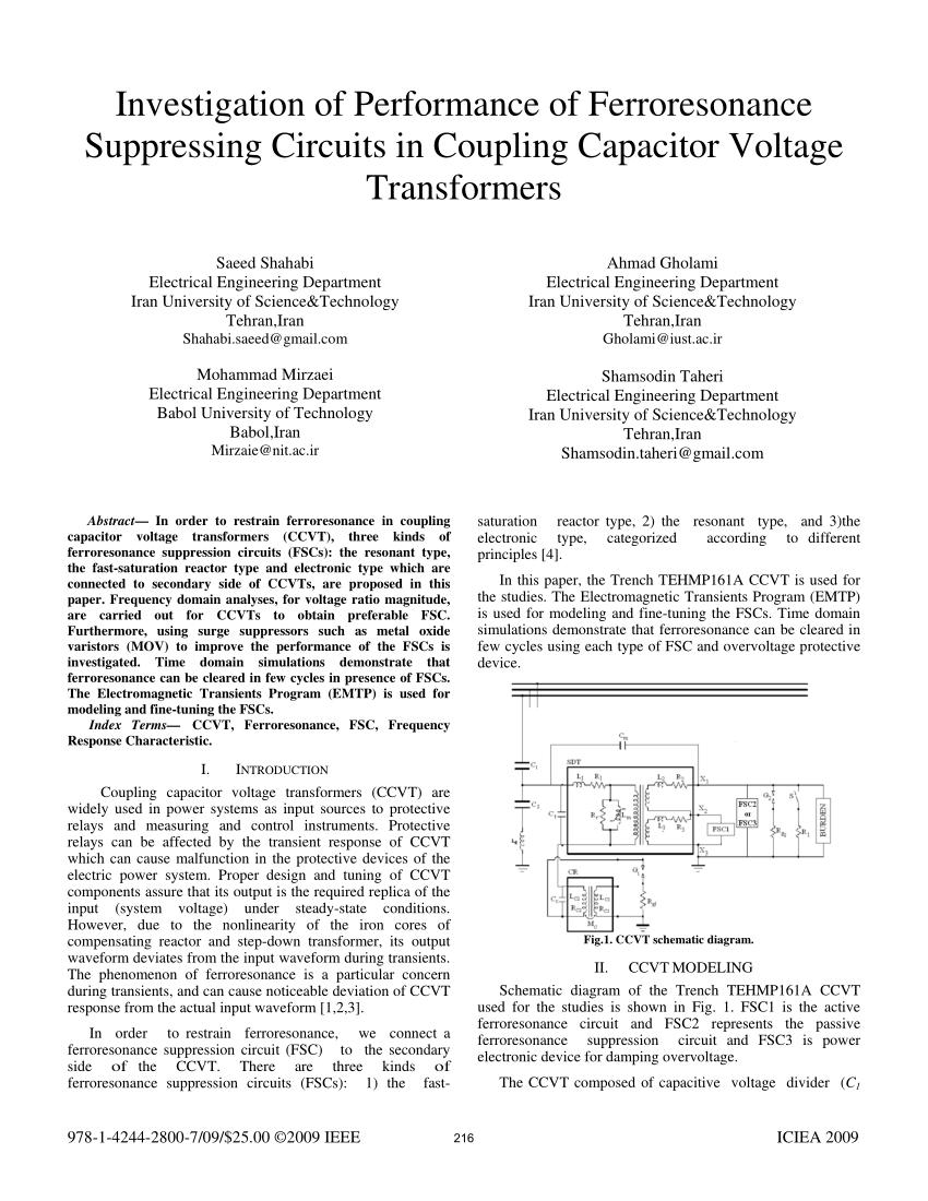 medium resolution of pdf investigation of performance of ferroresonance suppressing pdf investigation of performance of ferroresonance