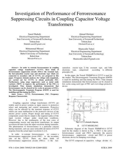 small resolution of pdf investigation of performance of ferroresonance suppressing pdf investigation of performance of ferroresonance