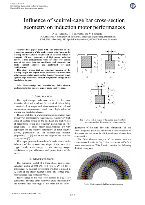 small resolution of  pdf influence of squirrel cage bar cross section geometry on induction motor performances