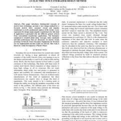 Electric Fence Circuit Diagram Diy 3 Phase 5 Pin Plug Wiring Australia Pdf An Energizer Design Method