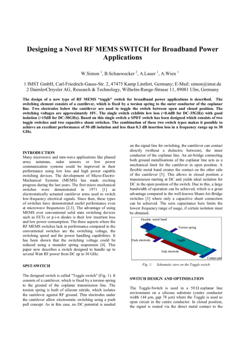 small resolution of  pdf toggle switch a new type of rf mems switch for power applications