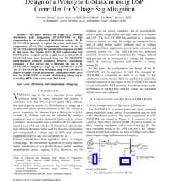 pdf construction of a prototype d statcom for voltage sag mitigation [ 850 x 1100 Pixel ]
