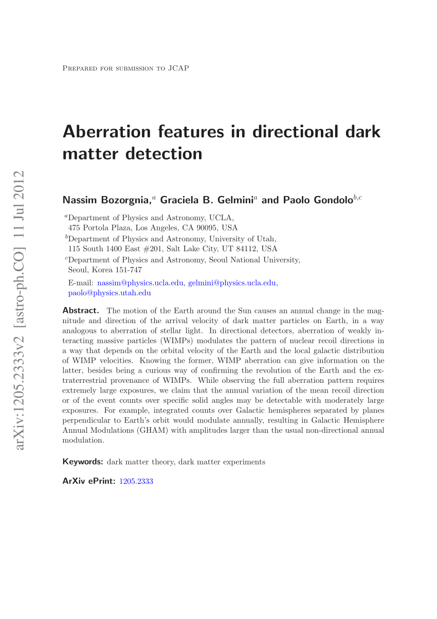 medium resolution of  pdf probing the local velocity distribution of wimp dark matter with directional detectors