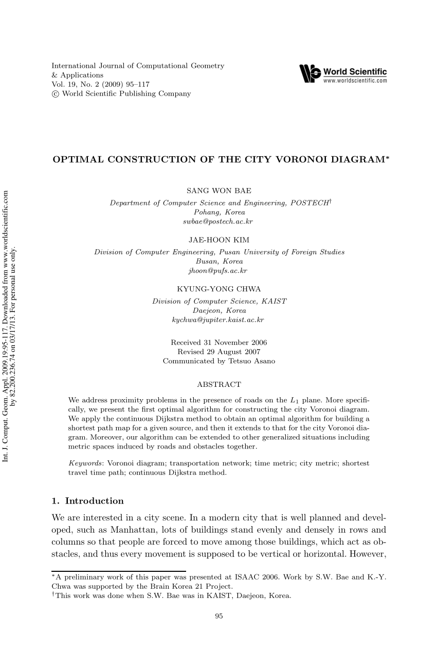 medium resolution of  pdf computing transportation voronoi diagrams in optimal time