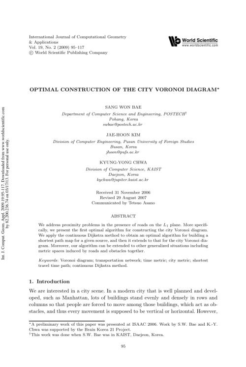 small resolution of  pdf computing transportation voronoi diagrams in optimal time