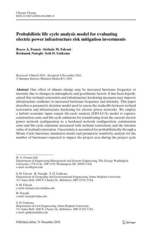 small resolution of a metric and frameworks for resilience analysis of engineered and infrastructure systems royce francis request pdf
