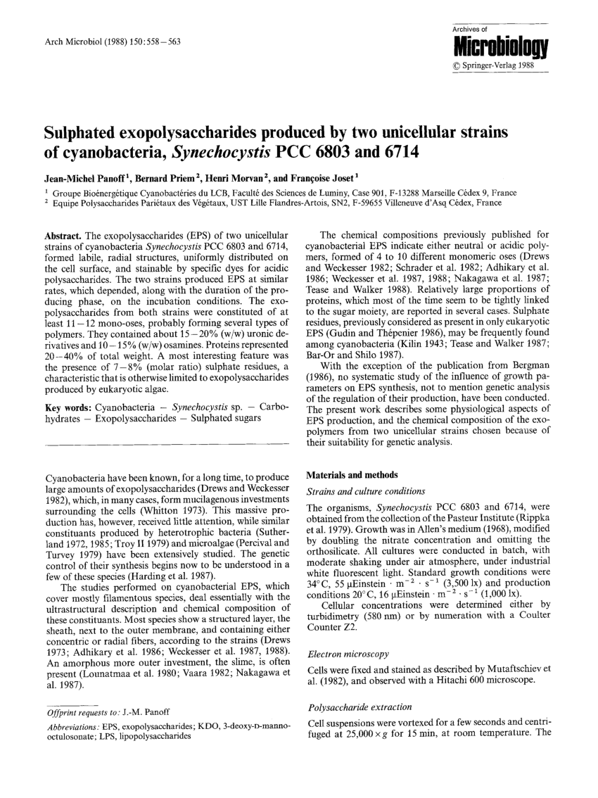 medium resolution of cyanobacterial sulfate accumulation from black crust of a historic building request pdf