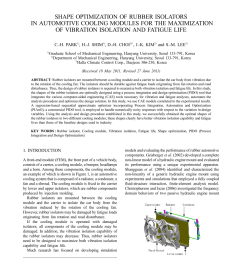 pdf shape optimization of rubber isolators in automotive cooling modules for the maximization of vibration isolation and fatigue life [ 850 x 1203 Pixel ]