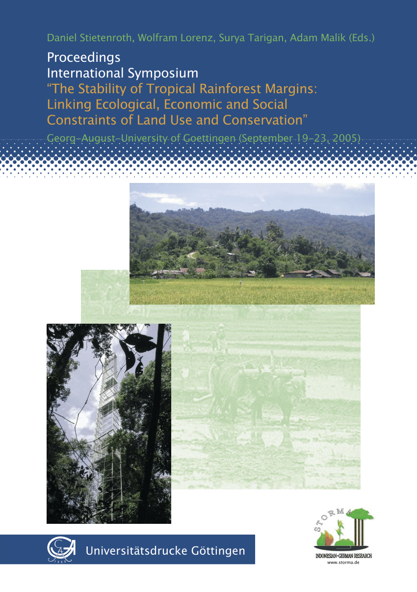 Here is a complete overview of the tropical rainforest biome, rain forest health, habitat, and these forests' importance to our earth. Pdf The Stability Of Tropical Rainforest Margins Linking Ecological Economic And Social Constraints Of Land Use And Conservation An Introduction