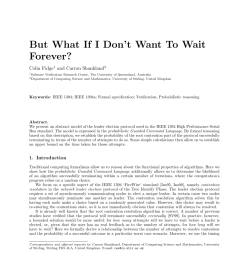 pdf probabilistic model checking of deadline properties in the ieee 1394 firewire root contention protocol 1 [ 850 x 1203 Pixel ]