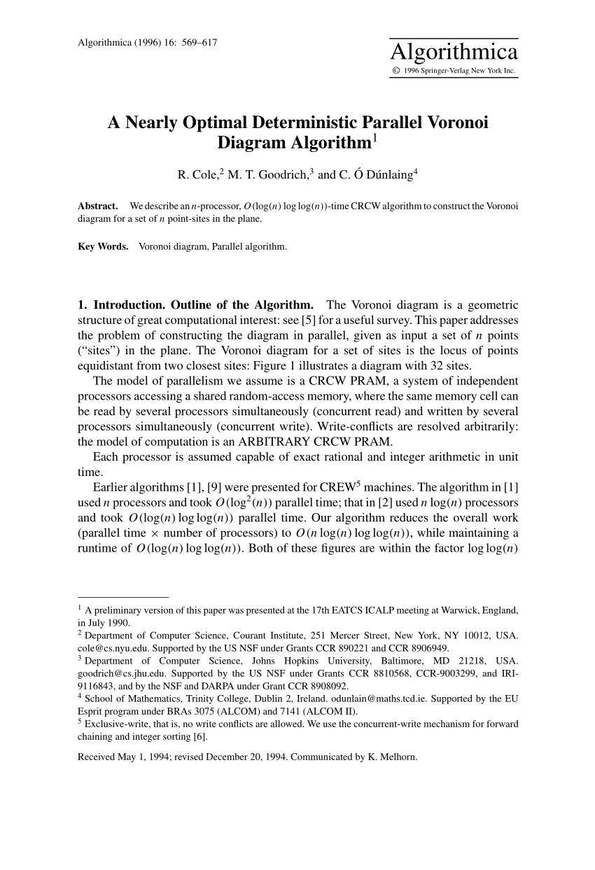 hight resolution of constructing the voronoi diagram of a set of line segments in parallel request pdf