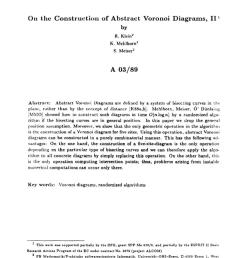 pdf a semidynamic construction of higher order voronoi diagrams and its randomized analysis  [ 850 x 1175 Pixel ]