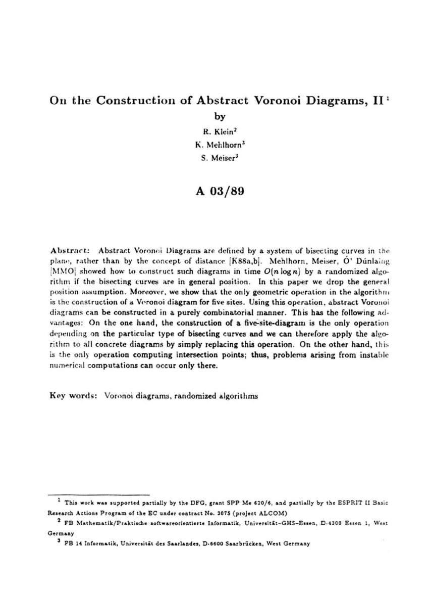 hight resolution of  pdf a semidynamic construction of higher order voronoi diagrams and its randomized analysis