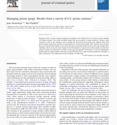 pdf managing prison gangs results from a survey of u s prison systems [ 850 x 1133 Pixel ]