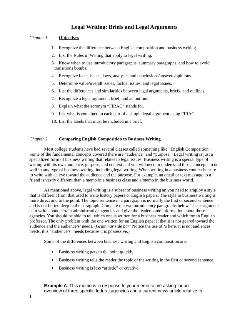 PDF Legal Arguments Briefs And Outlines Of Arguments