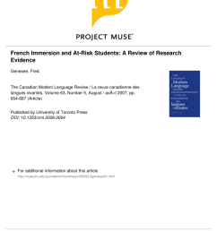 PDF) French Immersion and At-Risk Students: A Review of Research Evidence [ 1100 x 850 Pixel ]