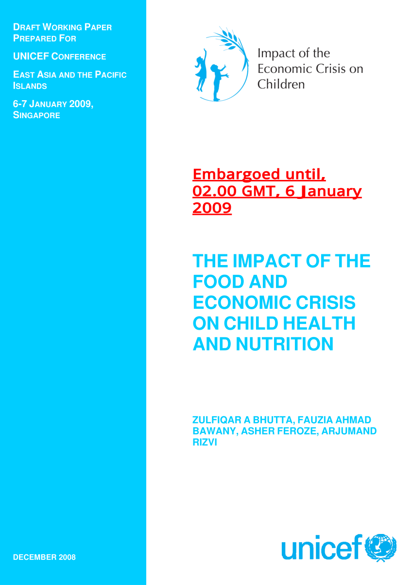 (PDF) The Impact of Food and Economic Crisis on Child Health and Nutrition