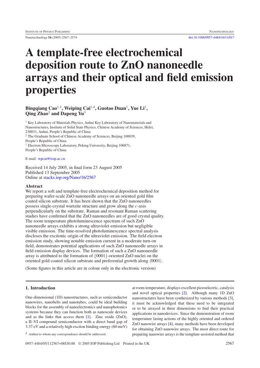 hight resolution of synthesis of exotic zigzag zno nanoribbons and their optical electrical properties li wang request pdf