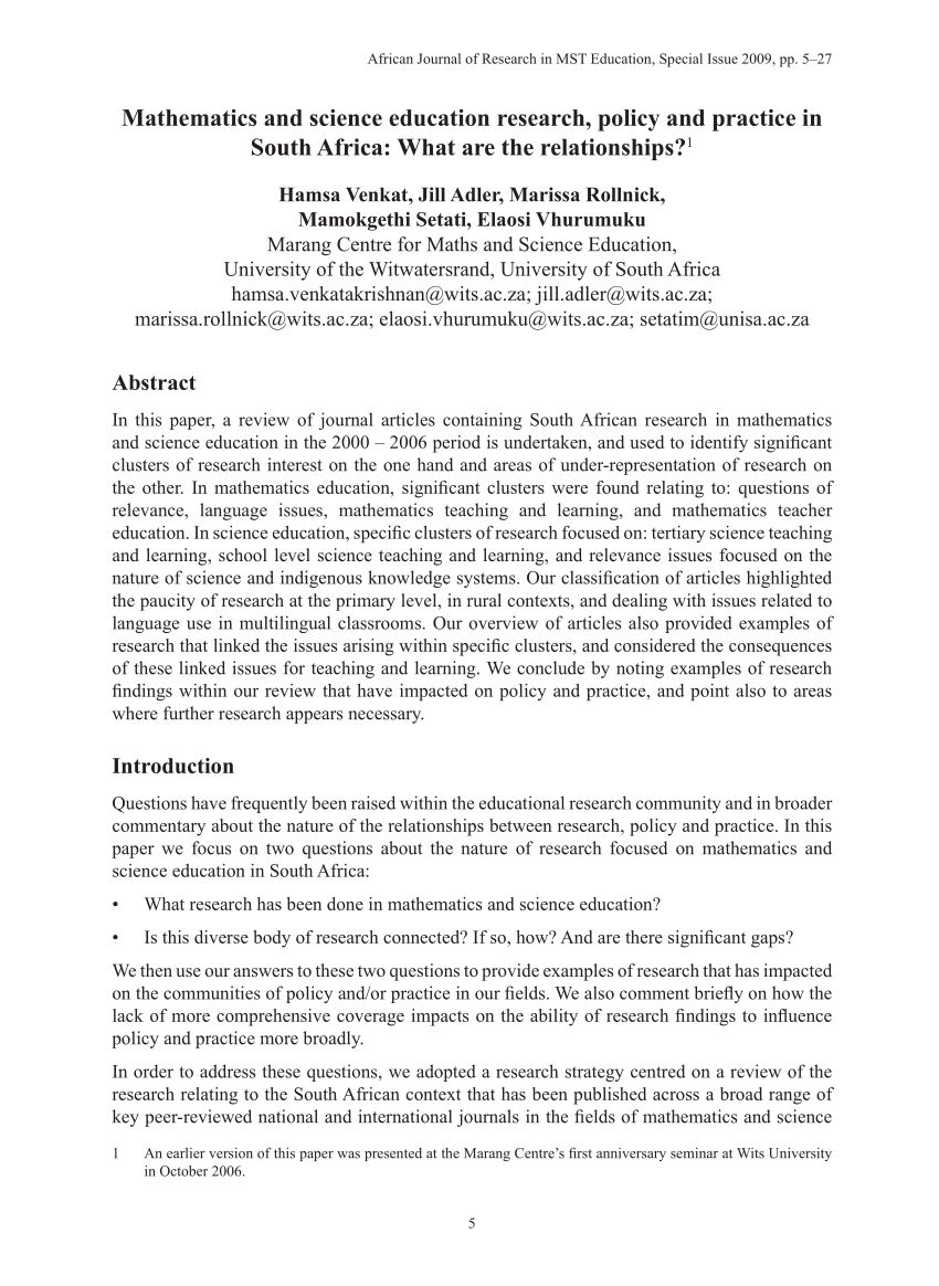 PDF Mathematics And Science Education Research Policy And Practice