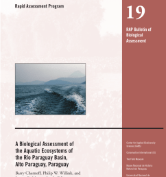 pdf a biological assessment of the aquatic ecosystems of the r o paraguay basin alto paraguay paraguay [ 850 x 1100 Pixel ]