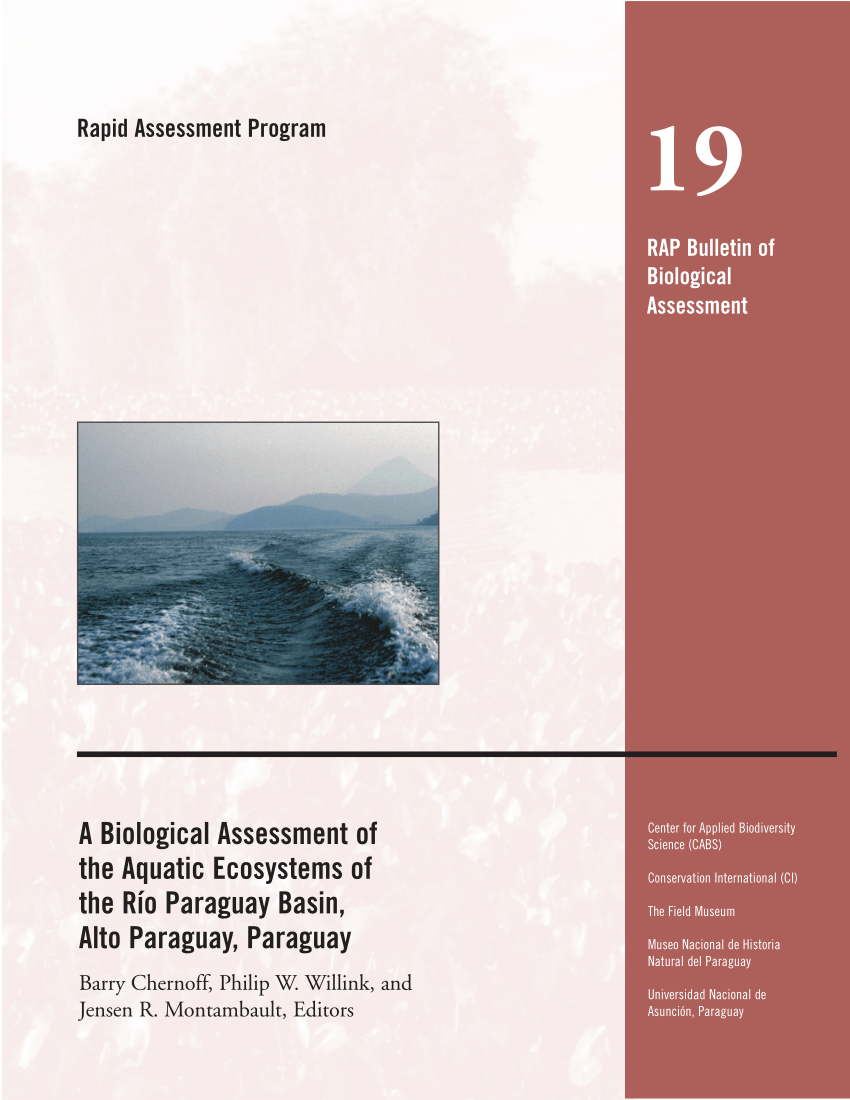 hight resolution of  pdf a biological assessment of the aquatic ecosystems of the r o paraguay basin alto paraguay paraguay